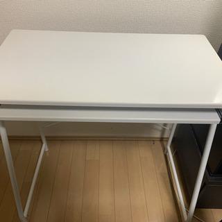 テーブル ホワイト 便利な2段式❗️