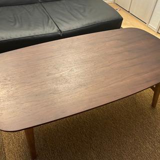 折り畳みテーブル ウォールナット