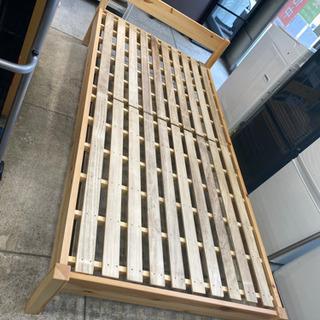 無印 パイン材 シングルベッド フレーム 木製 すのこ