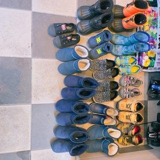キッズ靴 17点セット サンダル 長靴 ブーツ スキーブーツ