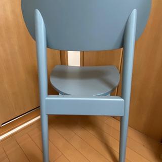 ベルメゾン 木製椅子 水色