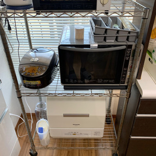 【8/3迄】食器棚とメタルラック【早い者勝ち】 - 家具