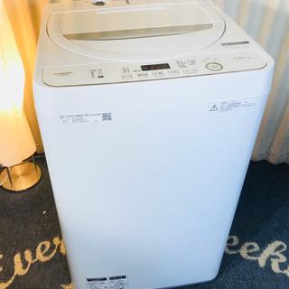 使用3か月✨SHARP✨全自動✨洗濯機✨4.5k✨清掃済み😍