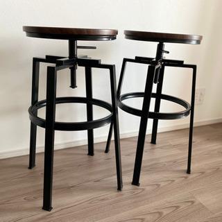 【取引中】スツール 2脚セット - 家具