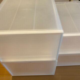 【引き取りのみ】無印良品のクローゼット内の収納ボックス - 墨田区