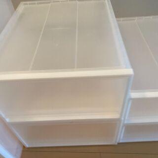 【引き取りのみ】無印良品のクローゼット内の収納ボックス - 家具