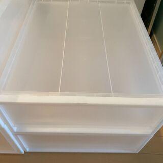 【引き取りのみ】無印良品のクローゼット内の収納ボックス − 東京都