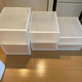【引き取りのみ】無印良品のクローゼット内の収納ボックスの画像