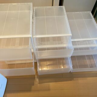 【引き取りのみ】無印良品のクローゼット内の収納ボックス - 売ります・あげます
