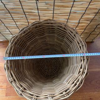 ラタン 植木鉢カバー - 家具
