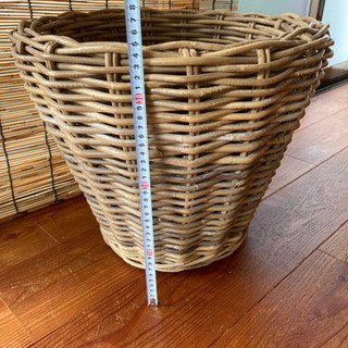 ラタン 植木鉢カバー - 町田市