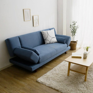 【ネット決済】【新品同様】LOWYA(ロウヤ)3人掛けソファベッド