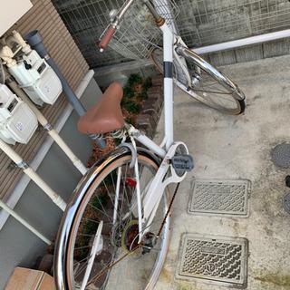決まりました!パンクのしにくいタイヤ自転車 27インチ 白
