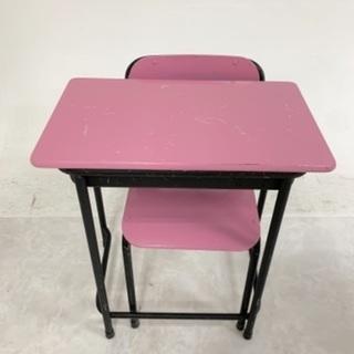学習机 学校 机 椅子 セット ピンク 黒色