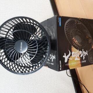 ELECOM ハイパワー扇風機 クリップ式