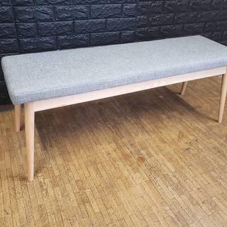 【6238】北欧デザイン・おしゃれなダイニングベンチ・グレー