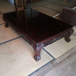 【ネット決済】和室 机 座卓 ガラス テーブル