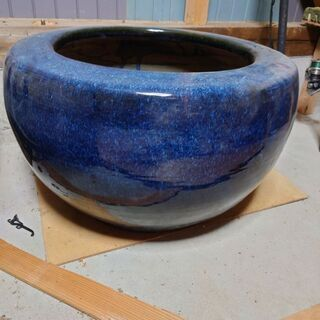 海鼠釉 特大 金魚鉢