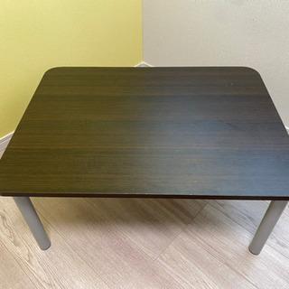 茶色ローテーブル