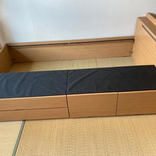 【ネット決済】セミダブル ベッドフレーム 照明付き