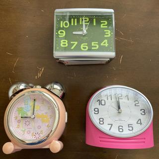 【ネット決済・配送可】置き時計 中古品 3点セット