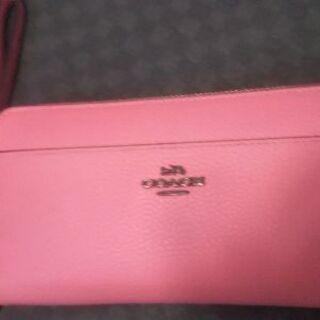 COACH本革長財布正規品 新品同様 美品 色ピンク
