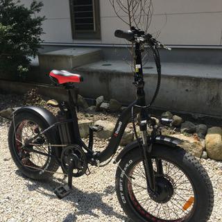【ほぼ新車】フルも可能な電動アシスト折りたたみファットバイク