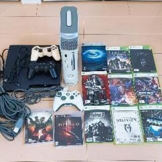 ゲームまとめ売り PS3 XBOX360 本体 ソフト11本