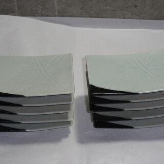 和風な角皿 大きさ約14㎝×10㎝  10枚 昭和 レトロ