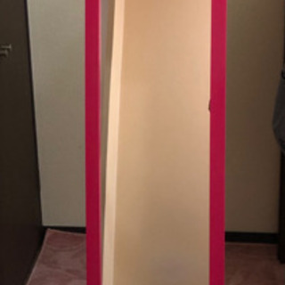 【ネット決済】値下げしました『美品』ピンク全身鏡