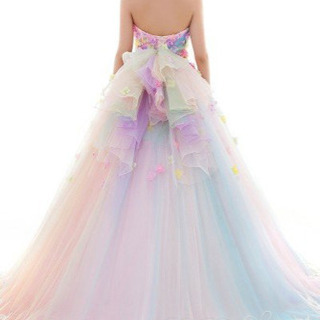 レインボードレス ウエディングドレス