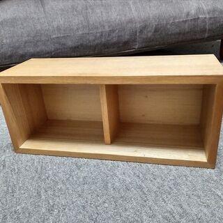 無印、壁に付けられる家具箱 44cm わりと美品
