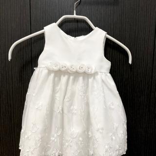 12M サイズ  ホワイト 白 ドレス ワンピース インナーパン...