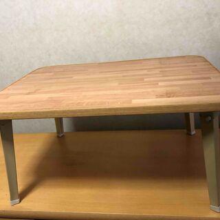 折り畳みテーブル 大小セットで