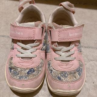 【15cm】イフミー×ブランシェスコラボ ピンク 花柄 スニーカー
