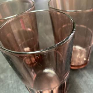 ガラスコップ3個