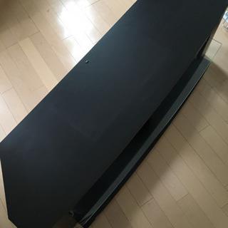 テレビボード ブラック ガラス