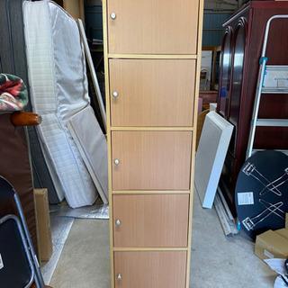 【お話し中】【中古品】木製5段収納棚