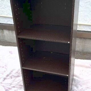 JM12080)3段カラーボックス 1個 カラー:ダークブラウン...