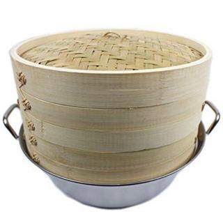 新品未使用 竹セイロ 中華せいろ蒸し器2段