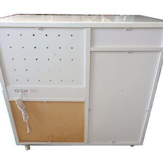 新札幌発 食器棚 エイアイエス キャスター付き 高さ90×幅90×奥行42cm - 売ります・あげます