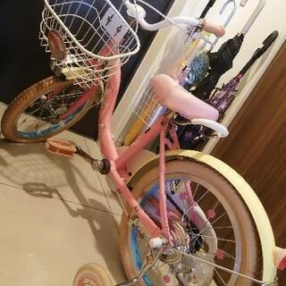自転車  補助輪付き自転車