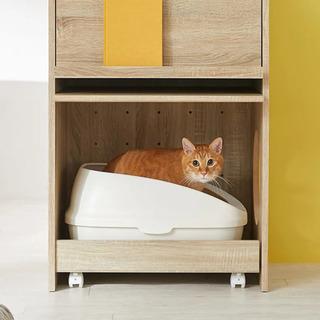 ロウヤ LOWYA 収納ラック 猫用トイレ収納 ペット 猫…