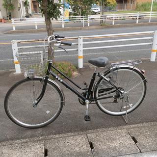6段階変速ギア付き自転車✨タケダ✨27インチ 黒色✨鍵あり✨中古...