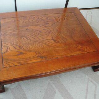 木目の美しい座敷机(座卓)