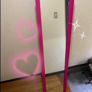 最終値下げ!美品ピンク全身 鏡