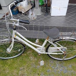 オートライト 自転車26インチ 3段ギア ホワイト