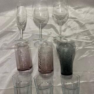 グラス 9ケ 新品未使用  コカコーラ  ワイングラス等