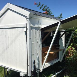 【ネット決済】移動販売 小屋 スズキ キャリー DA63Tに載せ...