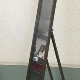 スタンドミラー 鏡 木製フレーム 折りたたみ式